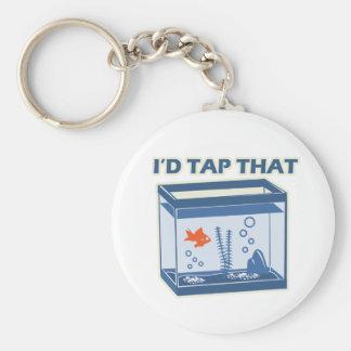 I'd Tap That Basic Round Button Keychain