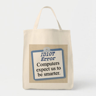 ID Ten T Error Tote Bag