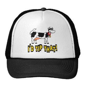 I'd Tip That Cow Trucker Hat