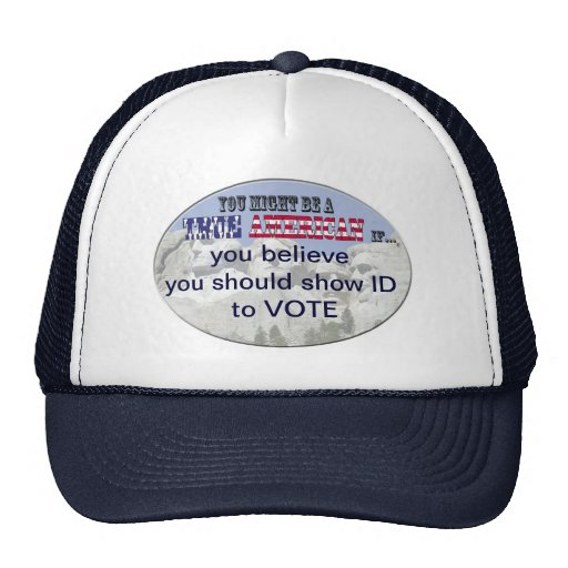 ID to vote Hats
