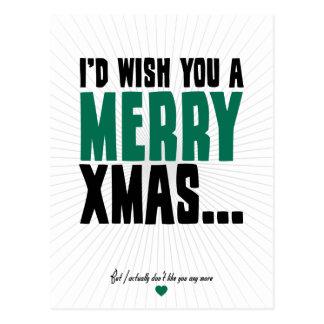 I'd Wish You A Merry Xmas Postcards