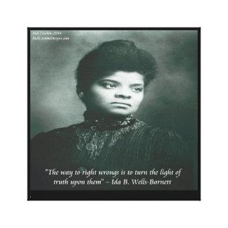 Ida B Wells Finding Truth Canvas Print