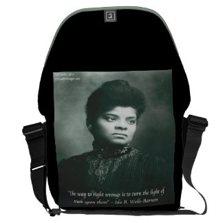 Ida B Wells Finding Truth Quote Messenger Bag Courier Bag