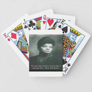 Ida B Wells & Truth Quote Bicycle Playing Cards
