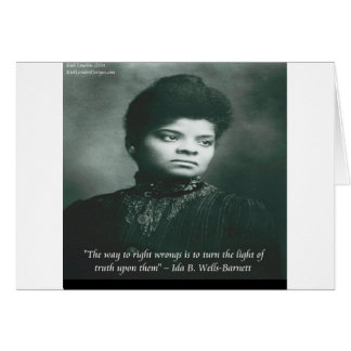 Ida B Wells & Truth Quote Greeting Cards
