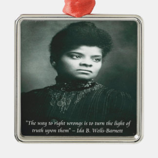 Ida B Wells & Truth Quote Christmas Tree Ornaments