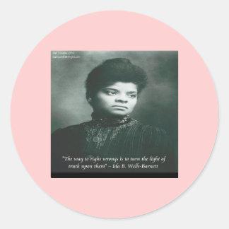 Ida B Wells & Truth Quote Classic Round Sticker