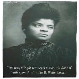 Ida B Wells & Truth Quote Cloth Napkin