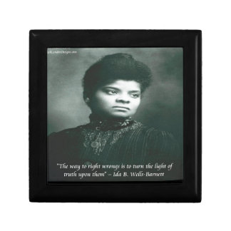 Ida B Wells & Truth Quote Jewelry Box