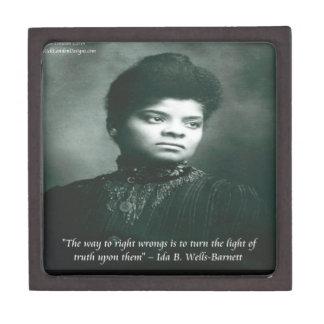Ida B Wells & Truth Quote Keepsake Box