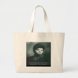 Ida B Wells & Truth Quote Large Tote Bag