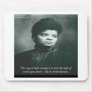 Ida B Wells & Truth Quote Mouse Pad