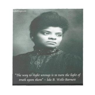 Ida B Wells & Truth Quote Notepad
