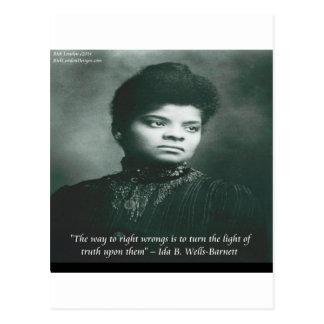 Ida B Wells & Truth Quote Post Card