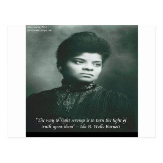 Ida B Wells & Truth Quote Postcard
