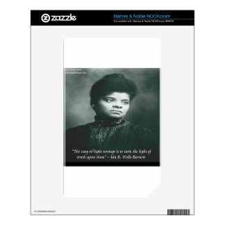 Ida B Wells & Truth Quote Skin For NOOK Color