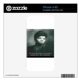 Ida B Wells & Truth Quote Skins For The iPhone 4S