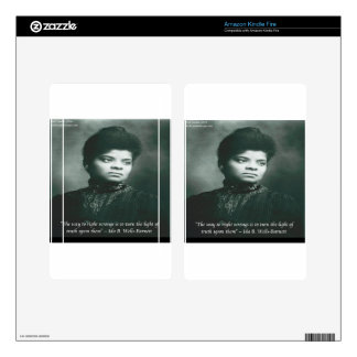 Ida B Wells & Truth Quote Skin For Kindle Fire
