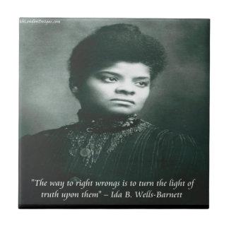 Ida B Wells & Truth Quote Small Square Tile