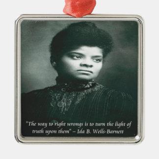 Ida B Wells & Truth Quote Square Metal Christmas Ornament