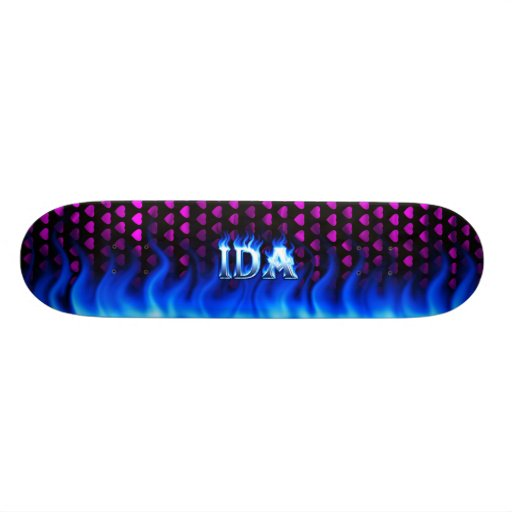 Ida blue fire Skatersollie skateboard. Skateboard Decks
