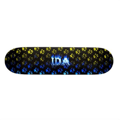 Ida blue fire Skatersollie skateboard.