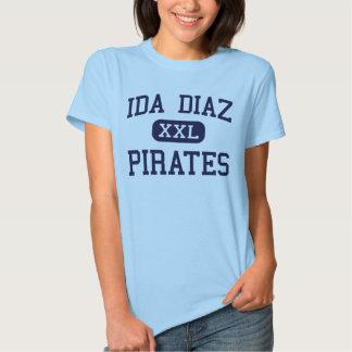 Ida Diaz - Pirates - Junior - Hidalgo Texas T-Shirt