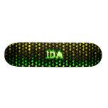 Ida green fire Skatersollie skateboard.