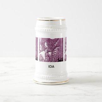 Ida In Mauve 18 Oz Beer Stein