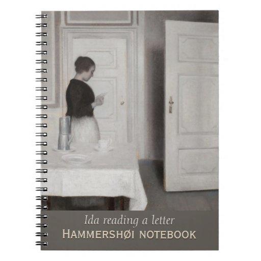 Ida reading a letter CC0700 Hammershøi Notebook