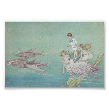 Art Themed Ida Rentoul Print - Fishes