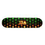 Ida skateboard fire and flames design