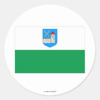 Ida-Viru Flag Classic Round Sticker