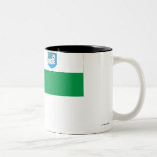 Ida-Viru Flag Two-Tone Coffee Mug