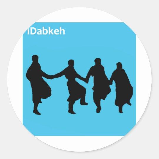 iDabkeh Classic Round Sticker