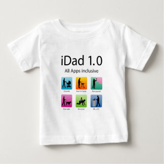 iDad 1,0 with apps Baby T-Shirt