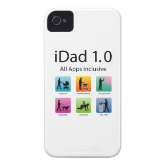iDad 1,0 with apps iPhone 4 Cover