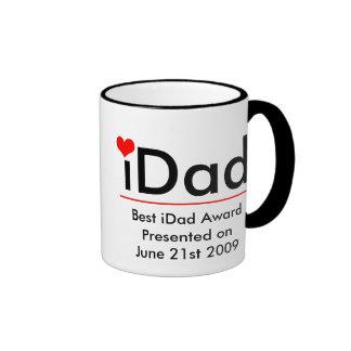 iDad-Best iDad Award Presented on June 21st 2009 Ringer Mug