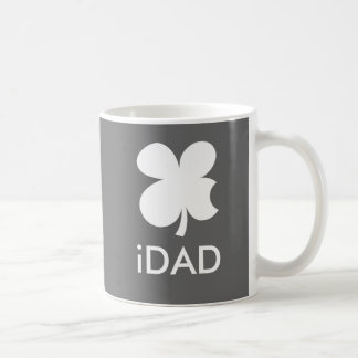 iDad Mug with lucky clover   Apple Parody