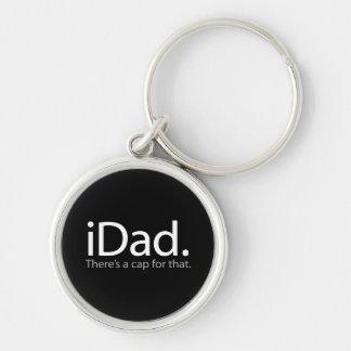 iDad Silver-Colored Round Keychain