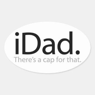 iDad Oval Stickers