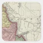 Idaho 4 calcomanias cuadradas