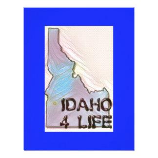 """Idaho 4 Life"" State Map Pride Design Letterhead"