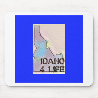 """Idaho 4 Life"" State Map Pride Design Mouse Pad"