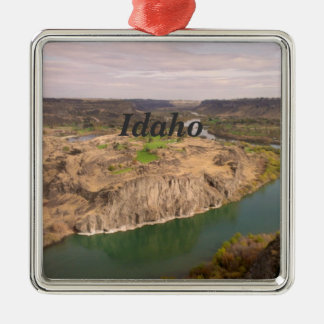 Idaho Adorno Navideño Cuadrado De Metal