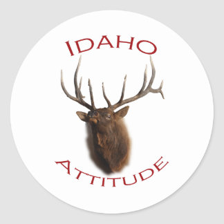 Idaho Attitude Classic Round Sticker