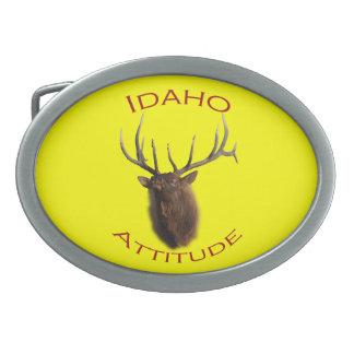 Idaho Attitude Oval Belt Buckle
