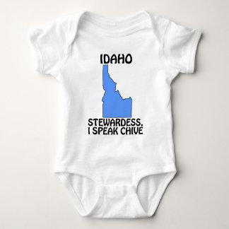 Idaho - azafata, hablo la cebolleta body para bebé