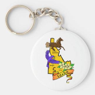 Idaho Basic Round Button Keychain