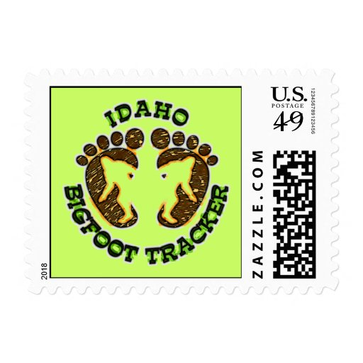 Idaho Bigfoot Tracker Postage Stamps